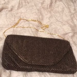Crossbody purse, brown beaded